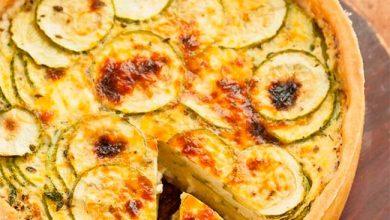 quiche 390x220 - Quiche de abobrinha com queijo branco