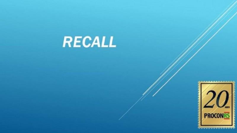 recall - Procon RS alerta para recalls do mês de outubro