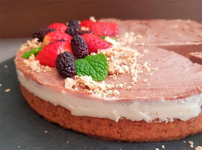 torta mousse vegana - Receita vegana de torta Mousse de Chocolate