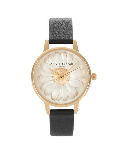 348179 832655  0047 ob15eg38 flowershow 3d daisy black and gold web  - Grupo Movado e VIVARA lançam relógios Olivia Burton no Brasil