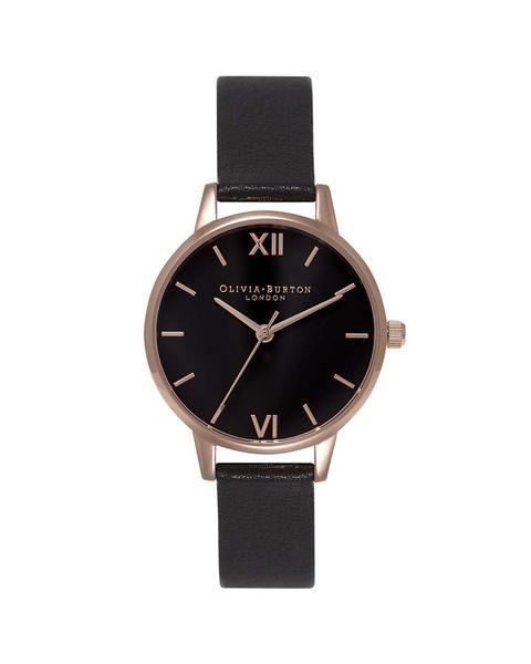 348179 832657  0026 ob15md42 midi black dial   rose gold web  - Grupo Movado e VIVARA lançam relógios Olivia Burton no Brasil