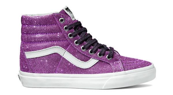 350226 841710 ucl  sk8 hi reissue lurex glitter  pink true white vn0a2xsbu3u web  - Vans Lança o Novo Lurex Glitter Pack