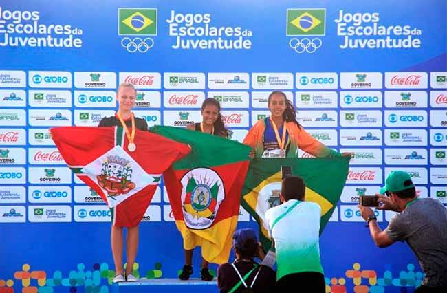 Atleta de Novo Hamburgo leva ouro no salto em distância dos Jogos Escolares - Atleta de Novo Hamburgo leva ouro no salto em distância dos Jogos Escolares