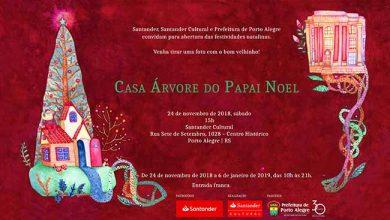 Casa Árvaore do Papai Noel 390x220 - Ação de Natal e música erudita dia 24 no Santander Cultural Porto Alegre