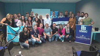Grêmio recebe visita de estudantes de Administração da Unisc 390x220 - Grêmio recebe visita de estudantes de Administração da Unisc