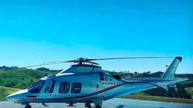 Helicóptero de propriedade da indústria farmacêutica Cristália que caiu neste sábado em Campos do Jordão 390x220 - Bombeiros resgatam dois corpos do helicóptero que caiu na Mantiqueira