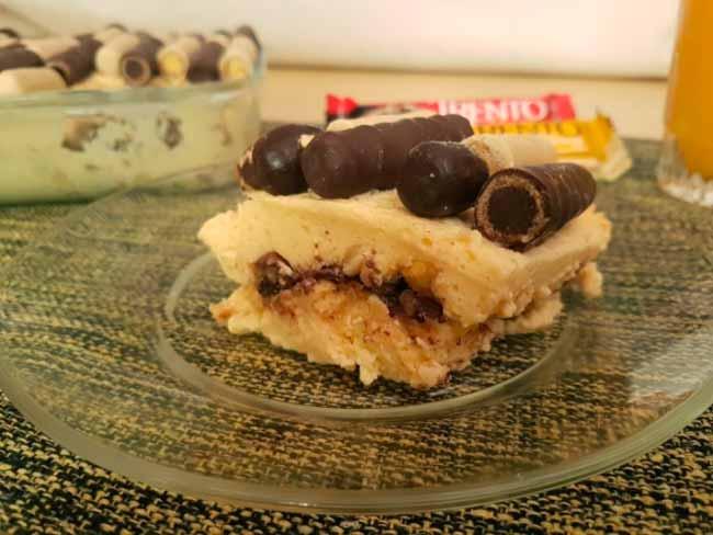 Pavê de maracujá - Pavê de Maracujá e Chocolate com Trento