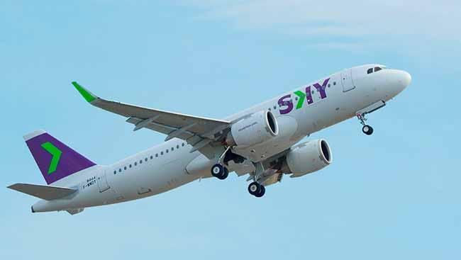 Sky Airlines - Companhia aérea chilena de baixo custo inaugura voo para o Brasil