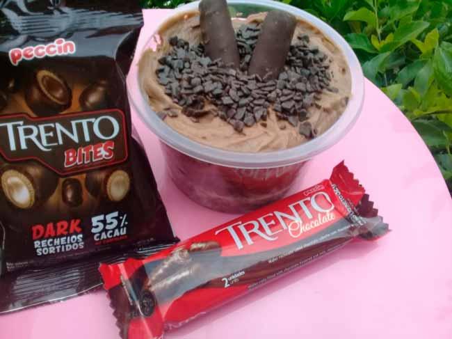 Trento Chocolate - Bolo de Pote Trento Bites e Trento Chocolate