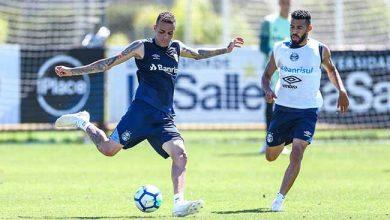 gremio treina no ct com a volta do atacante luan 390x220 - Grêmio faz treinamento com o retorno do atacante Luan
