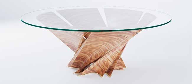 mesa - Mesa Torsion inspirada em Puglia é novidade da Natuzzi Italia