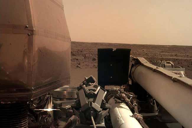 nasa jpl caltech handout via reuters  - Nasa comemora pouso da sonda InSight em Marte