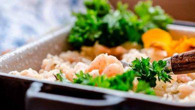 Photo of Risoto de quinoa com camarão e limão siciliano