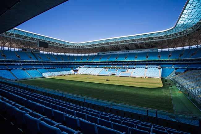 Arena do Grêmio em Porto Alegre - Gramado da Arena do Grêmio está pronto para próxima temporada