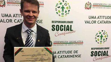Augusto Munchen Presidente da entidade 1 390x220 - Acibalc é certificada por sua Responsabilidade Social em evento na ALESC