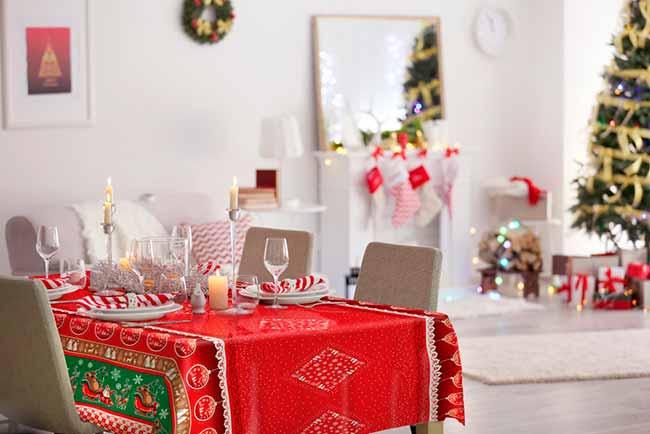 Bom Velhinho ambiente2017 BX - Decorelli lança toalha Trenó para decorar no Natal