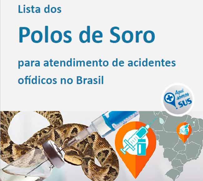 Capa Lista de polos - Sinitox lança lista atualizada de polos de soro antiofídico no Brasil