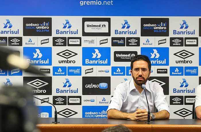 Grêmio oficializa desligamento do gerente executivo André Zanotta - Grêmio oficializa desligamento do gerente-executivo André Zanotta