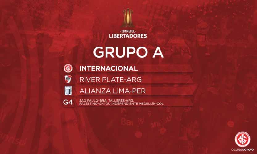 Grupo do Inter primeira fase Libertadores 2019 1 - Inter na Libertadores 2019: definido calendário da fase de grupos