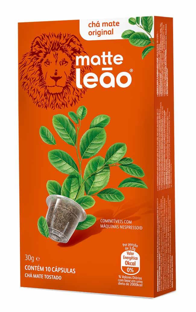 Matte Leão em cápsula - Leão lança chá em cápsulas compatíveis com as máquinas nespresso