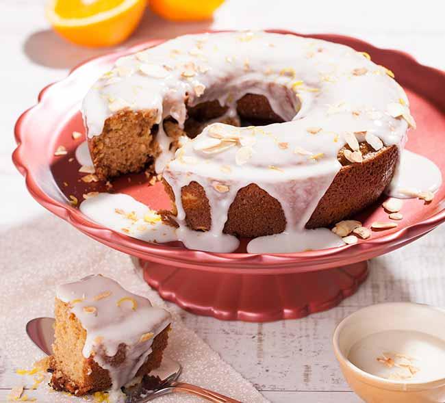 bolo laranja - Bolo de laranja com amêndoas