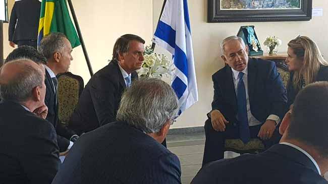 jair bolsonaro e benjamin netanyahu se reunem no rio de janeiro - Bolsonaro se reúne com o primeiro-ministro de Israel no Rio