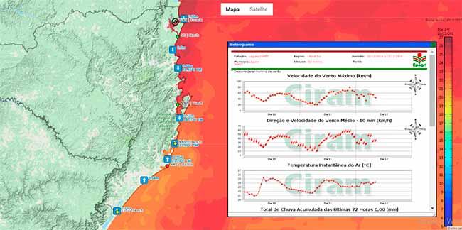 4dda7fed4 Estação Meteorológica Farol de Santa Marta está online
