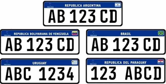 modelo de placas do Mercosul - Novo modelo de placas do Mercosul é adiado para julho de 2019