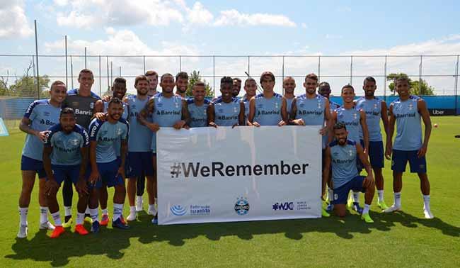 Ação em parceria com a FIRS e DRS Grêmio - Grêmio adere à campanha #WeRemember