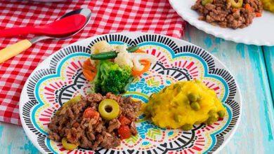 Carne moída com purê de mandioquinha e vegetais à oriental 390x220 - Carne moída com purê de mandioquinha e vegetais à oriental