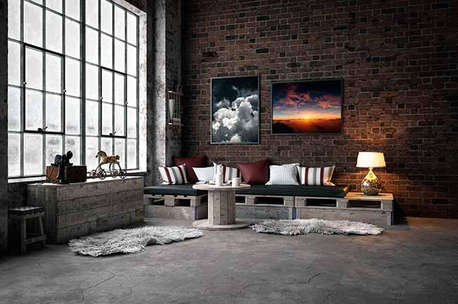 Decoração Industrial III - Telhanorte dá dicas para escolher o piso para decoração industrial