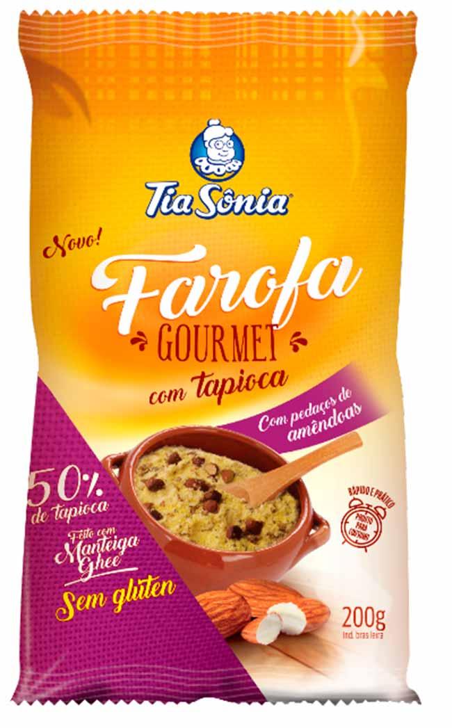 Farofa de Tapioca com Amendôas - Farofa de Tapioca com Amendôas