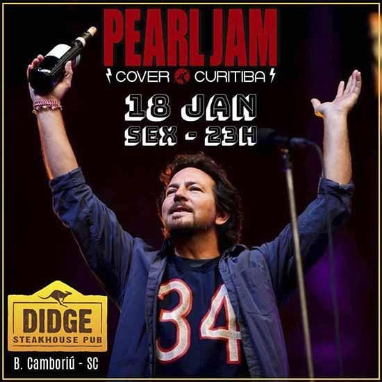 Flyer BC - Cover curitibano do Pearl Jam agita palco do Didge BC nesta sexta