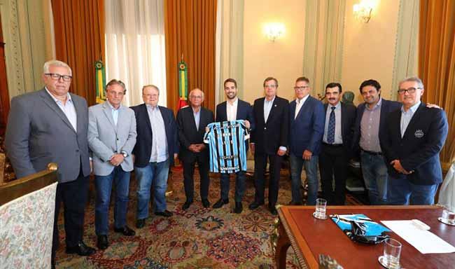 Grêmio FBPA realiza visita institucional ao Governo do Estado - Grêmio FBPA realiza visita institucional ao Governo do Estado