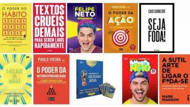 Livros mais vendidos em 2018 390x220 - DEZ LIVROS MAIS VENDIDOS EM 2018 NA SARAIVA