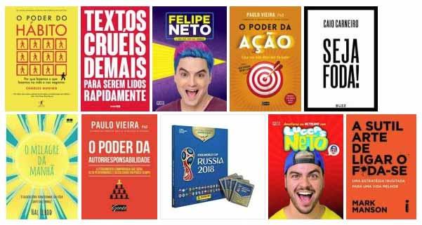 Livros mais vendidos em 2018 - DEZ LIVROS MAIS VENDIDOS EM 2018 NA SARAIVA