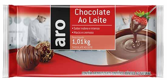 Mockup Chocolate ao Leite Aro - Makro relança linha de chocolates voltada ao público profissional