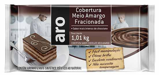 Mockup Cobertura Meio Amargo Fracionada Aro - Makro relança linha de chocolates voltada ao público profissional