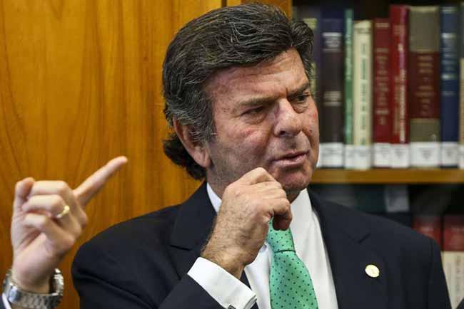 O ministro Luiz Fux - STF cancela decisão de Fux sobre Renan Calheiros