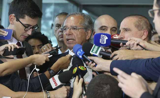 O ministro da Economia Paulo Guedes - Paulo Guedes e Onyx Lorenzoni falam sobre reforma da Previdência