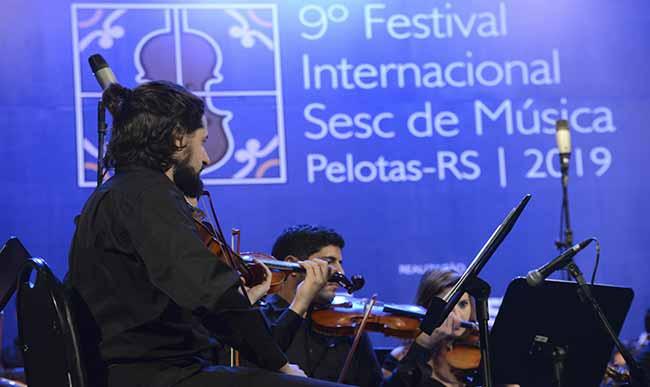 Orquestra Academica Regente Cecilia Espinosa COL Foto Flavio Neves - Alunos de São Leopoldo participam do 9º Festival Internacional Sesc de Música em Pelotas