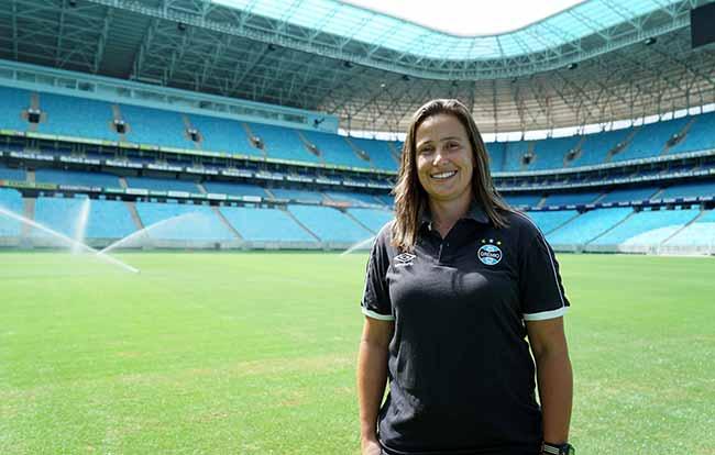 Patrícia Gusmão retorna ao Grêmio - Patrícia Gusmão é a nova técnica do futebol feminino do Grêmio