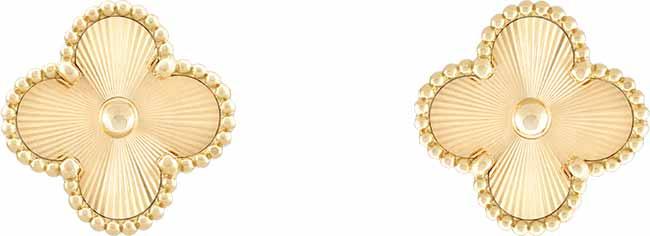 Van CleefArpels Brinco Vintage Alhambra R23.80000 - Van Cleef & Arpels apresenta o brilho do ouro guilhochê