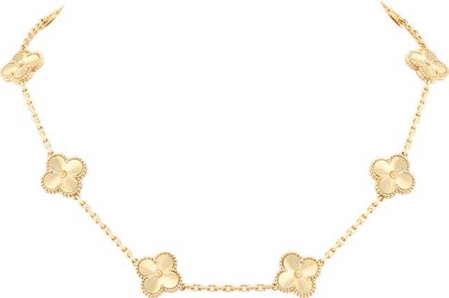 Van CleefArpels Colar Vintage Alhambra Ouro Amarelo Guilhochê R49.60000 2 - Van Cleef & Arpels apresenta o brilho do ouro guilhochê