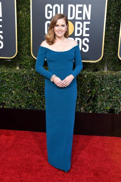 amy adams calvin klein - Celebridades vestiram Calvin Klein no 76º Golden Globe Awards