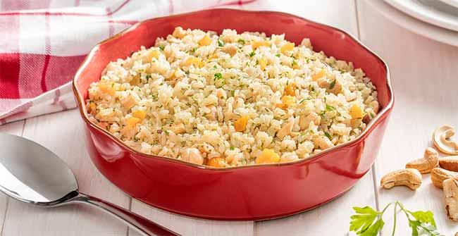 arroz castanha - Arroz Integral com Castanhas