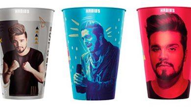 copos luan 390x220 - Habib's lança novos copos colecionáveis de Luan Santana