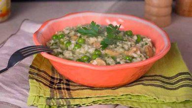 risoto 390x220 - Risoto de espinafre, ervilha e champignon