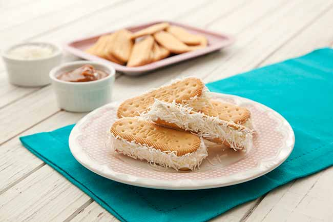 sanduiche sorvete - Sanduíche Divertido de Sorvete
