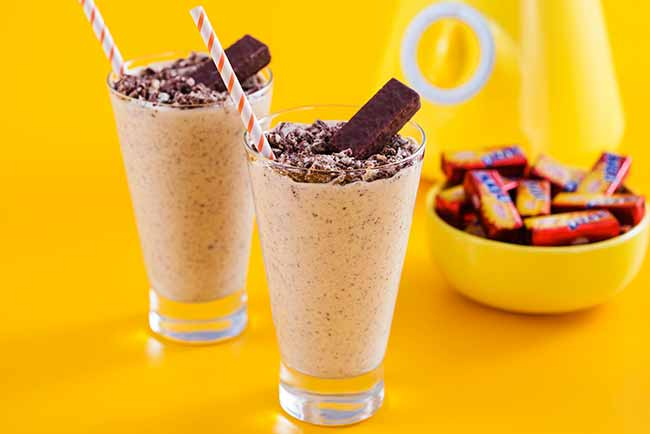 sorvete de creme - Milk-shake de creme com D-tone